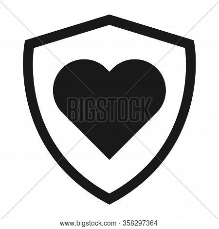 Shield Protect Icon, Safety Symbol, Defense Logo, Web Button, Internet Security