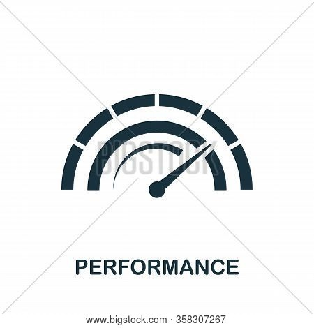 Performance Icon. Simple Element From Audit Collection. Filled Performance Icon For Templates, Infog