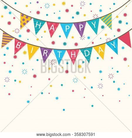 Happy Birthday - Vector Birthday Card, Party Invitation, Banner