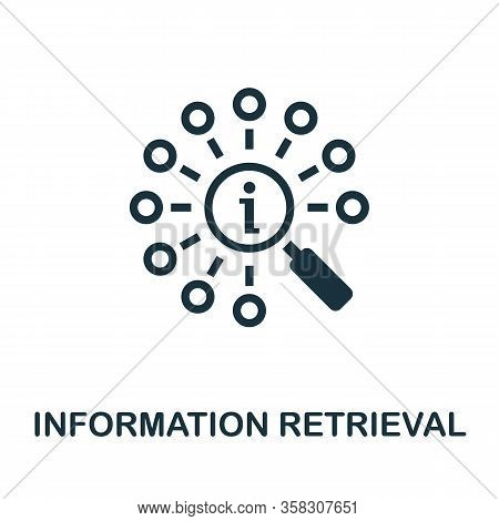 Information Retrieval Icon. Simple Element From Business Intelligence Collection. Filled Information