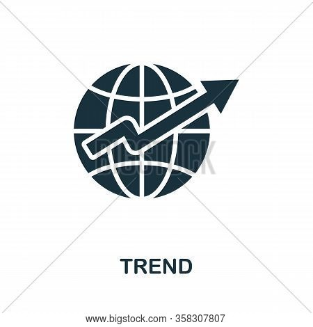 Trend Icon. Simple Element From Business Intelligence Collection. Filled Trend Icon For Templates, I
