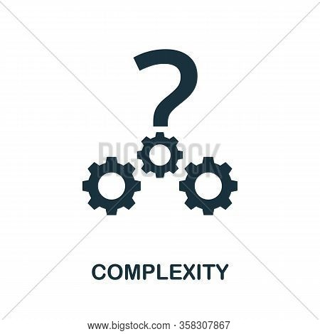Complexity Icon. Simple Element From Business Intelligence Collection. Filled Complexity Icon For Te