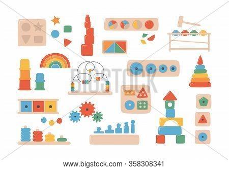 Education Logic Toys For Montessori Games. Children Wooden Toys For Preschool Kids. Montessori Syste