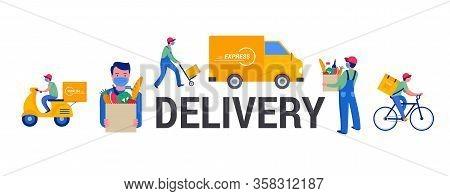Safe Online Delivery During The Coronavirus Pandemic - Online Order Tracking, Delivery Door To Door,