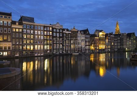 Famous Place In Amsterdam City, Holland, Europe