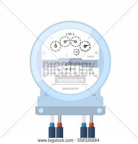 Electricity Supply Meter, Electric Meter Icon, Analog Counter