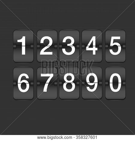 Set Of Ten Numbers From Zero To Nine. Code, Password, Cipher. Counting Concept. Can Be Used For Gree