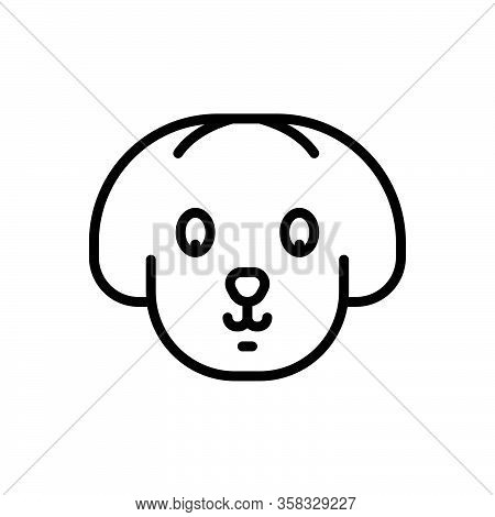 Black Line Icon For Pet Tamed Domestic Tame Home Animal Puppy Dog