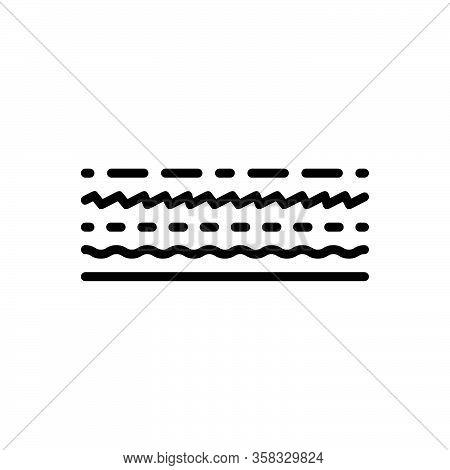 Black Line Icon For Line Track Dash Underline Streak Boundary Borderline