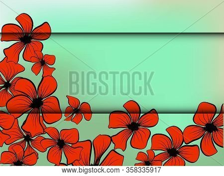 Red Poppies, Great Design For Any Purposes. Decorative Floral Illustration. Blossom Floral Seamless