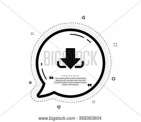 Download Arrow Icon. Quote Speech Bubble. Down Arrowhead Symbol. Direction Or Pointer Sign. Quotatio