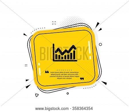 Financial Chart Icon. Quote Speech Bubble. Economic Graph Sign. Stock Exchange Symbol. Business Inve