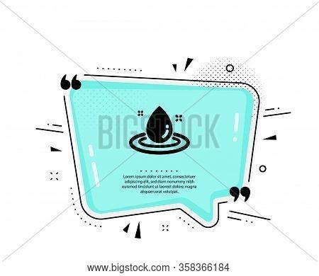 Fuel Energy Icon. Quote Speech Bubble. Petroleum Sign. Diesel Drop Symbol. Quotation Marks. Classic