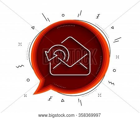 Send Mail Download Line Icon. Chat Bubble With Shadow. Sent Messages Correspondence Sign. E-mail Sym