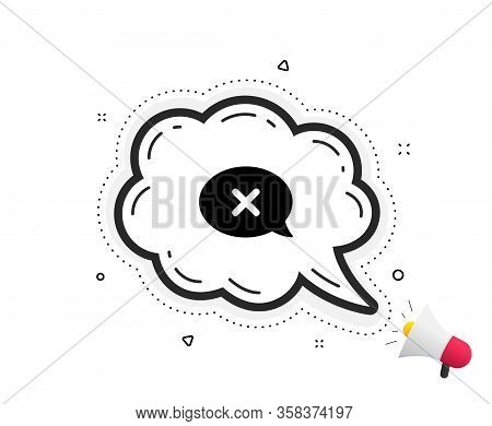 Reject Message Icon. Quote Speech Bubble. Decline Or Remove Chat Sign. Quotation Marks. Classic Reje