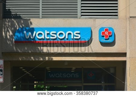 Taguig, Ph - Oct. 1: Watsons Pharmacy Facade On October 1, 2016 In Taguig, Philippines.