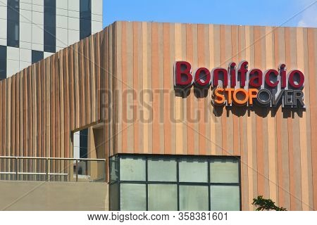 Taguig, Ph-oct. 1: Bonifacio Stopover Facade On October 1, 2016 In Bgc, Taguig, Philippines. Bonifac