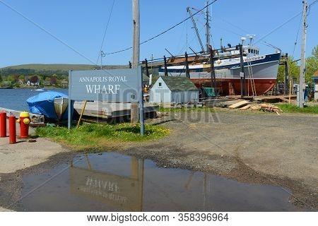 Annapolis Royal, Ns, Canada - May 21, 2016: Historic Fishing Boat Ryan Royale In Annapolis Royal, No