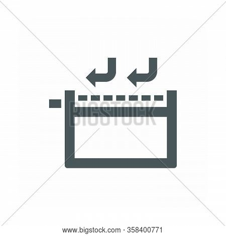 Waterproof And Equipmentvector Icon Design On White Background.