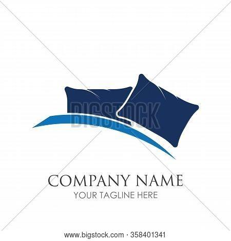 Bed Logo Vector Illustration Design Template. Bed Logo Vector