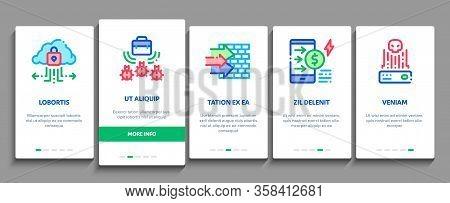Pentesting Software Onboarding Mobile App Page Screen Vector. Pentesting Programming Code, Cybersecu