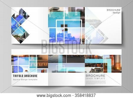 The Minimal Vector Editable Layout Of Square Format Covers Design Templates For Trifold Brochure, Fl