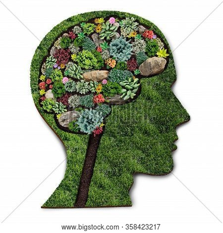 Personal Growth Concept And Gardener Or Landscaper Symbol For Gardening Psychology As A Horticulture