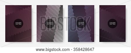 Gradient Zig Zag Stripes Texture Vector Backgrounds For   Business Covers. Vibrant Zig Zag Gradient