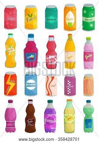 Soda Drink Isolated Cartoon Set Icon. Cartoon Vector Set Icon Bottle Beverage. Vector Illustration S