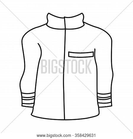 Vector Design Of Jacket And Fireman Symbol. Set Of Jacket And Clothing Stock Vector Illustration.