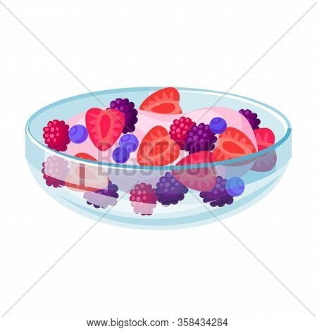 Fruit Salad Vector Icon.cartoon Vector Icon Isolated On White Background Fruit Salad.