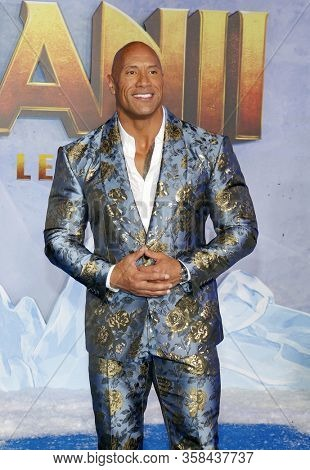 Dwayne Johnson at the World premiere of 'Jumanji: The Next Level' held at the TCL Chinese Theatre in Hollywood, USA on December 9, 2019.