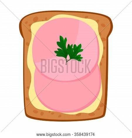 Toast Vector Icon.cartoon Vector Icon Isolated On White Background Toast.