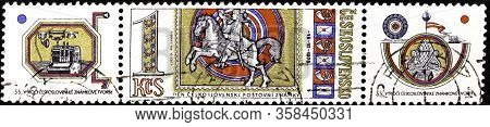 02 08 2020 Divnoe Stavropol Territory Russia Postage Stamp Czechoslovakia 1973 Stamp Day 55 Years Of