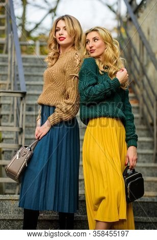 Matching Colors. Personal Stylist Service. Sweater Skirt Trend. Completing Each Other. Matching Outf