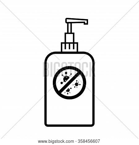 Cleansing Gel Icon Vector. Flat Vector Sanitize Icon Symbol Sign From Modern Cleaning.