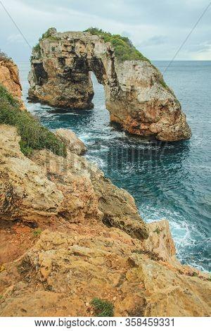 Es Pontas - Picturesque Rock Arch In Santanyi, Mallorca, Spain