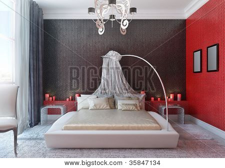 Bedroom With Baldachin