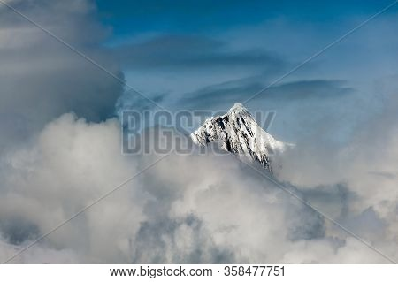 The Snow Capped Peak Of Kawagarbo (khawa Karpo, Kawadgarbo, Khawakarpo, Moirig Kawagarbo, Kawa Karpo