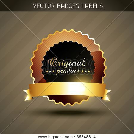 vector original product golden style label poster