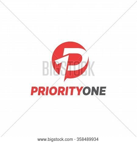 Priority One Logo P1 Simple And Vector Abstract