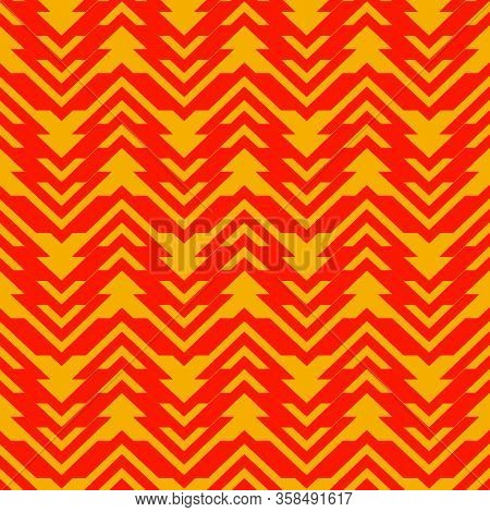 Pattern Orange Triangle Flat Decorative Vector Eps 10