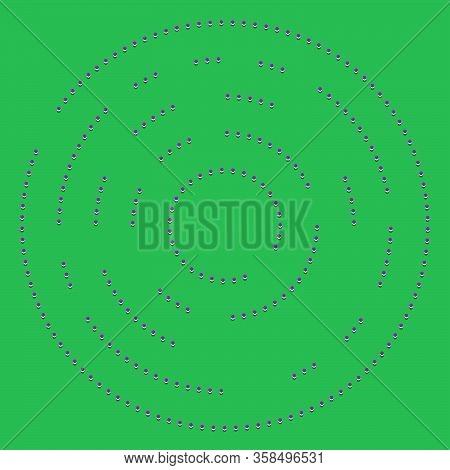 Random Dots, Circles Abstract. Speckles, Dotted Radial, Radiating, Circular Geometric Illustration.