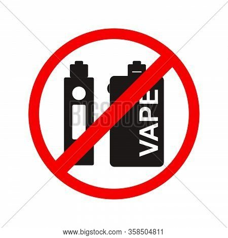 No Vaping Icon Isolated On White Background From Mall Collection. No Vaping Icon Trendy And Modern N
