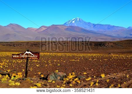 Llullaillaco Volcano, The Sacred Volcano. The Sign Says: