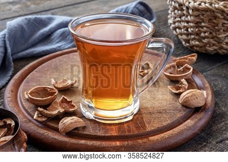 Herbal Tea Made From Walnut Shells - Folk Remedy For Cough