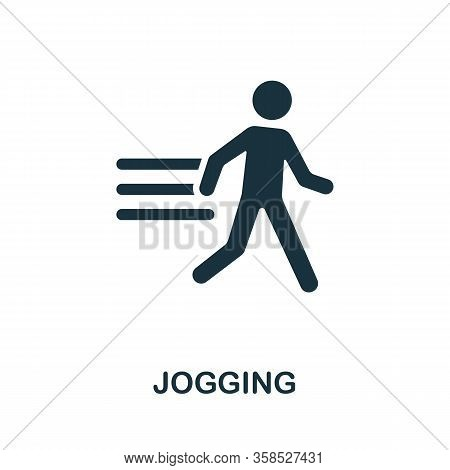 Jogging Icon. Simple Illustration From Healthy Lifestyle Collection. Creative Jogging Icon For Web D