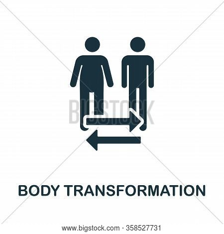Body Transformation Icon. Simple Illustration From Healthy Lifestyle Collection. Creative Body Trans