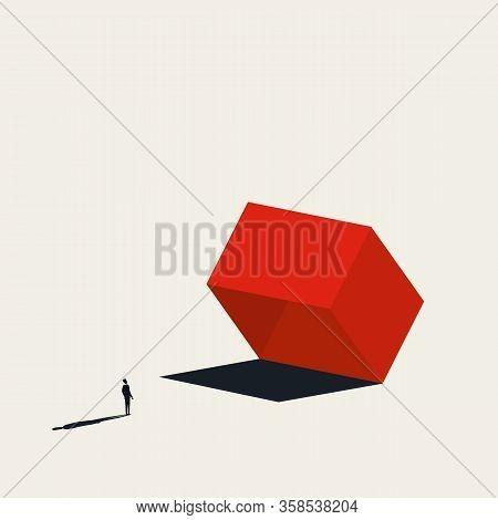 Business Risk Or Danger Vector Concept. Symbol Of Trap, Risky Investment, Market Assessment.