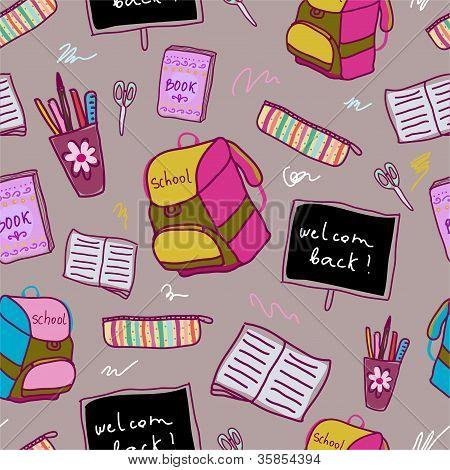 Back to school pattern.